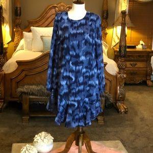 BCBG MaxAzria NWT Pacific Blue Shift Dress Sz S